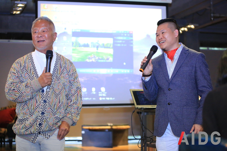 香港室内设计师协会名誉会长高文安先生(左)与常务副会长陈杰先生